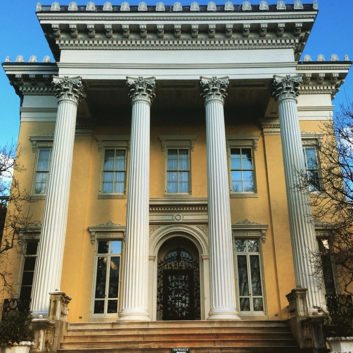 Evergreen House: built in 1858 for Stephen Broadbent, and notably the home of John Work Garrett II, who assembled an extraordinary collection of rare books some 30,000 strong.