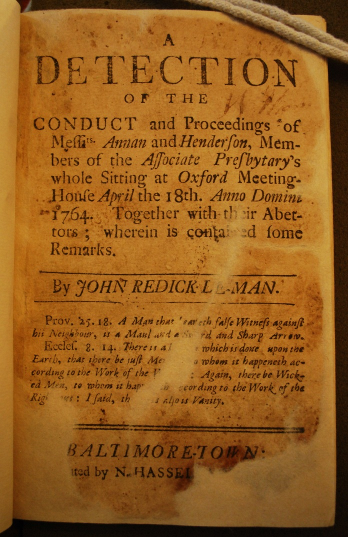 CONDUCT OF ANNAN AND HENDERSON